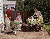 The 1960s Family Barbecue Scene