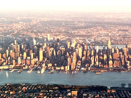 Midtown Manhattan at sunset