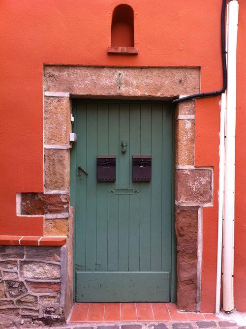 Colorful stone doorway