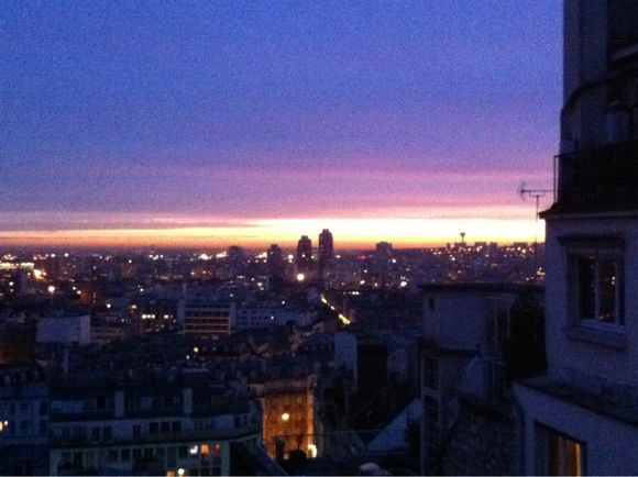 A sliver of sunrise