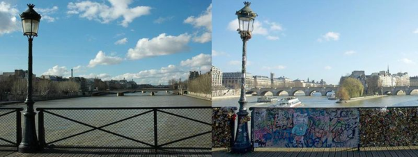 Pont des Arts, Before and After