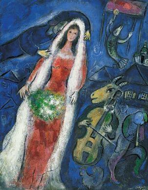 La Mariée, Marc Chagall